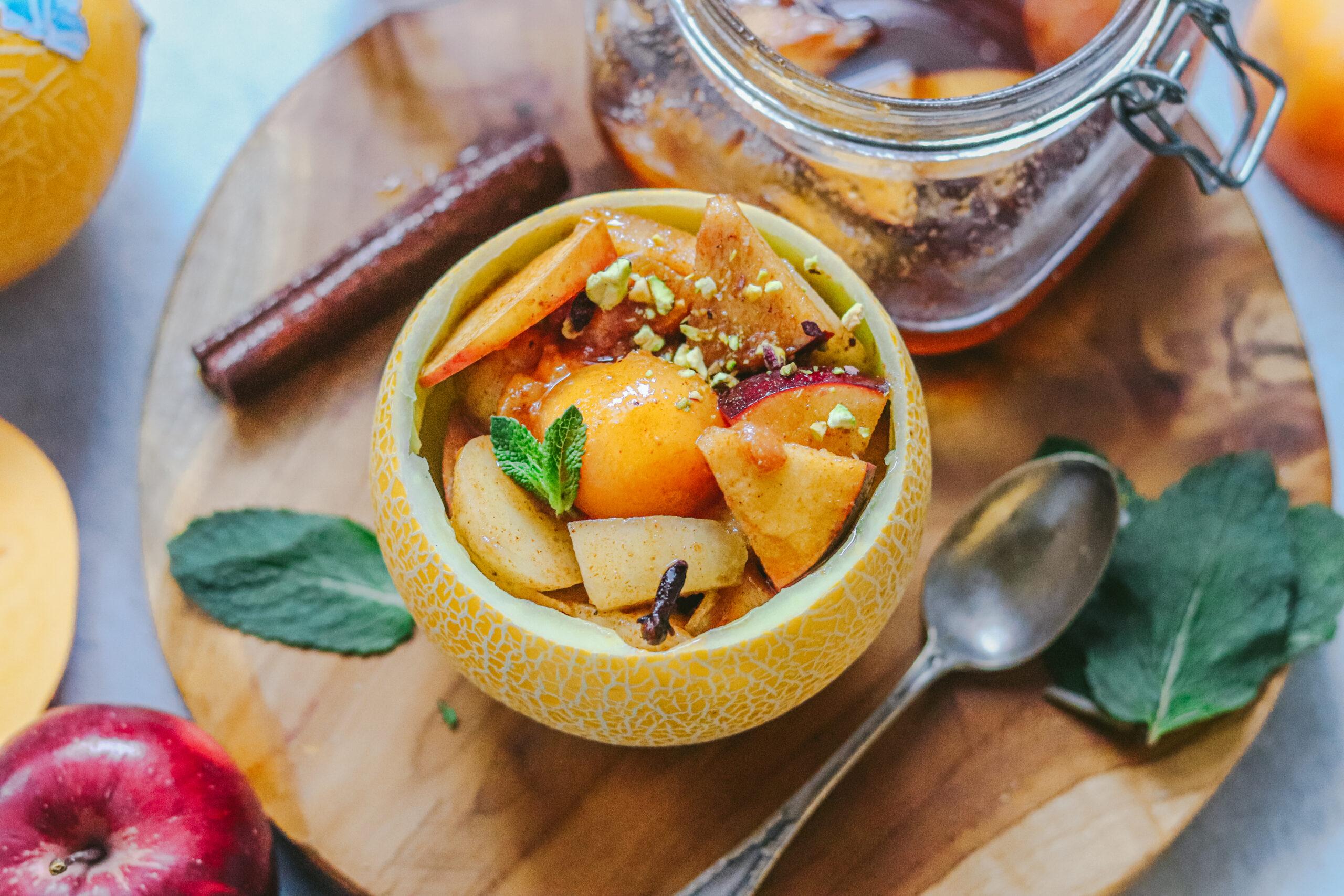 Lililup relleno de frutas en escabeche