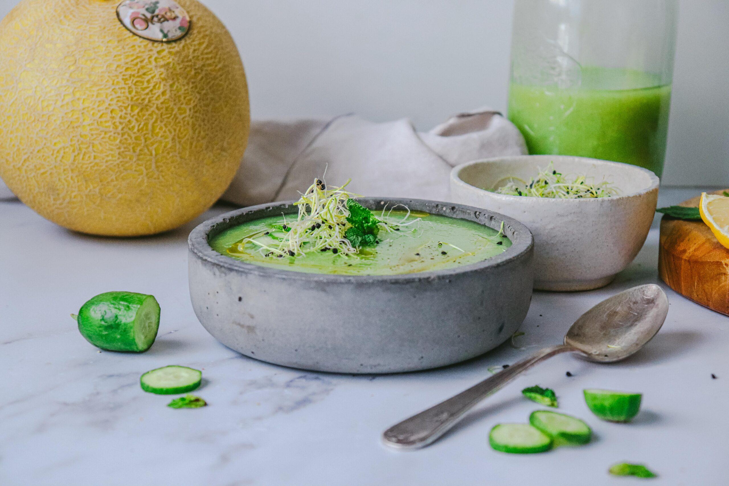 Sopa de Melón Okashi, Pepino y Menta
