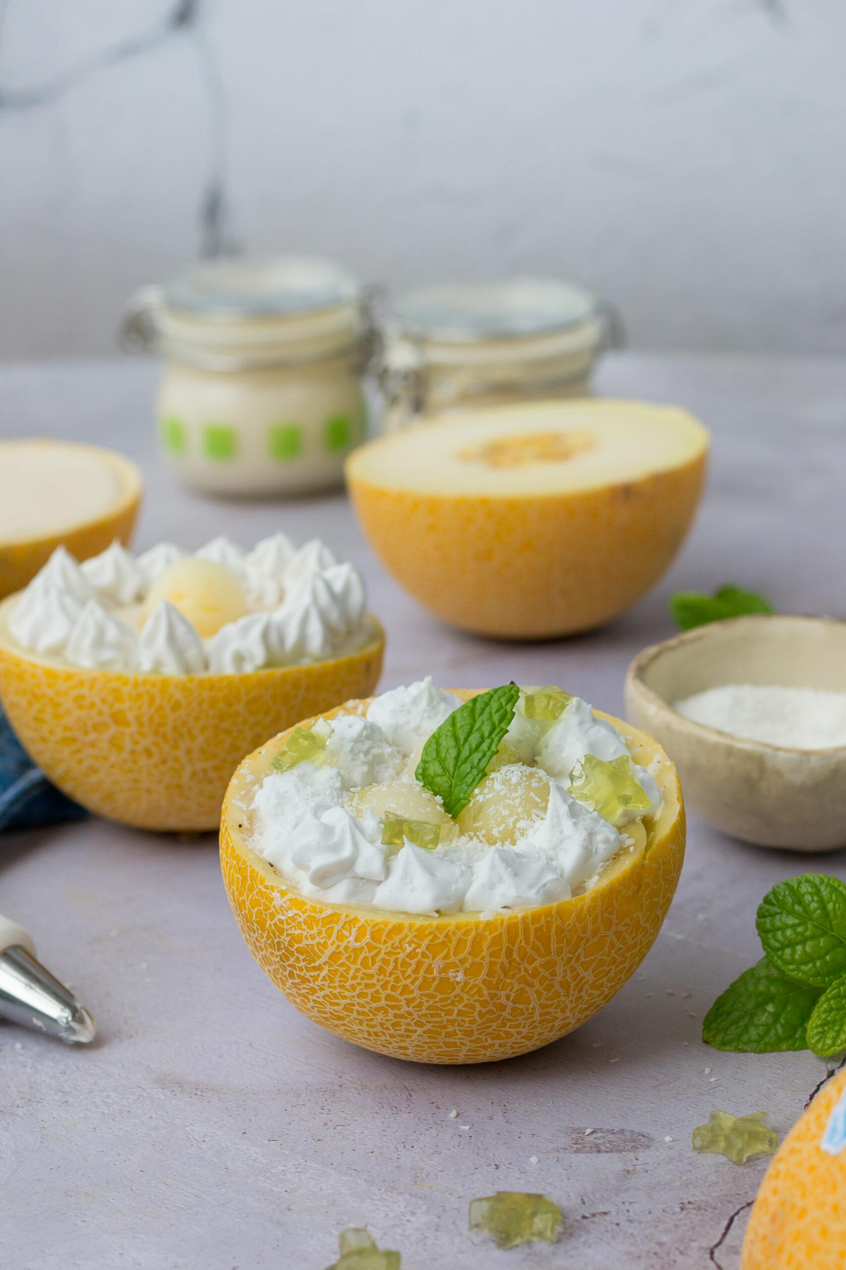 Mousse de melón Lililup y coco