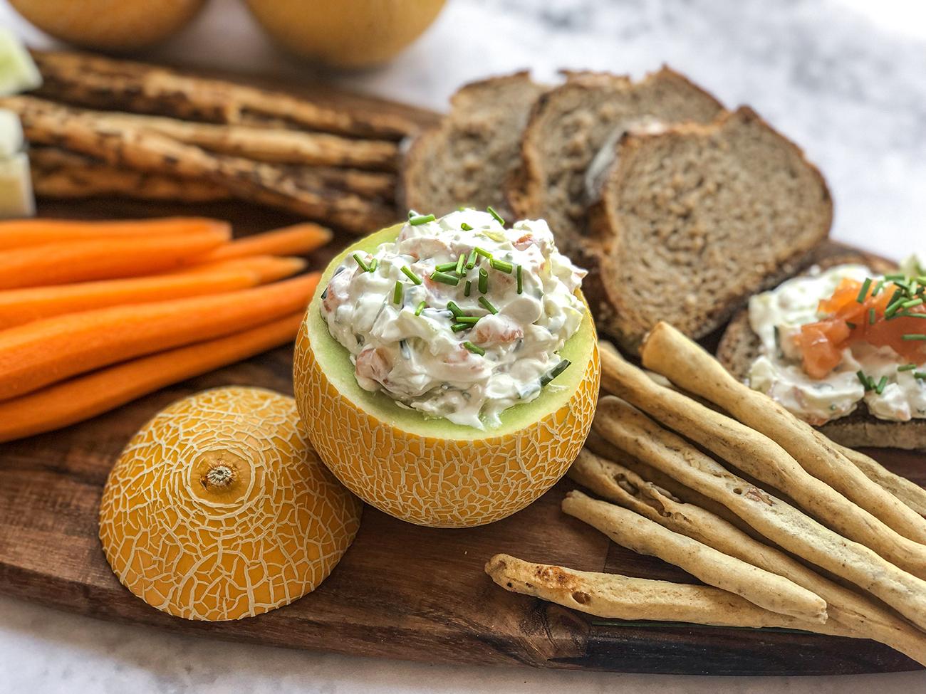 Lililup relleno de queso y salmón